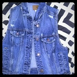 American eagle outfitters denim vest